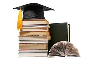 books and mortar board