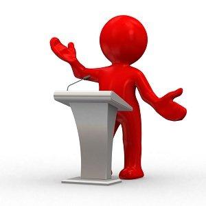 person giving a speech
