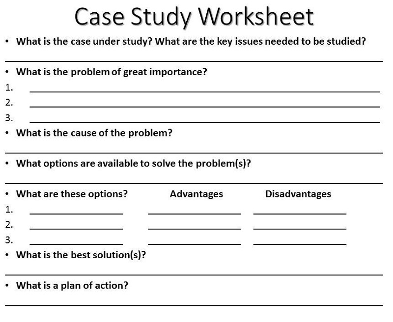 case study worksheet